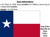 Texas Revolution / Lone Star Republic PowerPoint Presentation