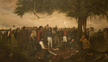 "Texas Revolution - Recreating the ""Surrender of Santa Anna"" Painting"