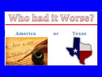 Texas Revolution-Relationships Gone Bad!