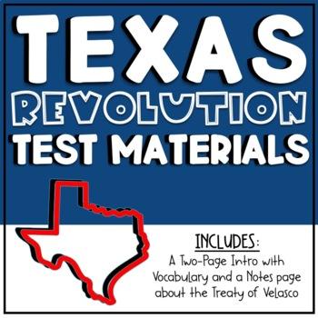 Texas Revolution Test Materials