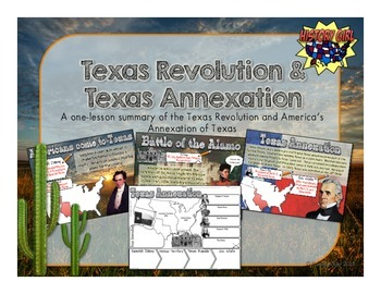 Texas Revolution & Texas Annexation: PowerPoint and Infographic