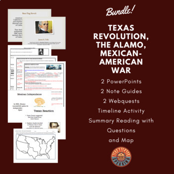 Texas Revolution, The Alamo, Mexican-American War Bundle