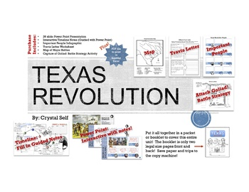 texas revolution unit bundle by crystal self teachers pay teachers