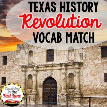 Texas Revolution Vocabulary Match Up
