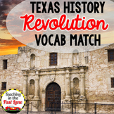 Texas Revolution Vocabulary Match Up