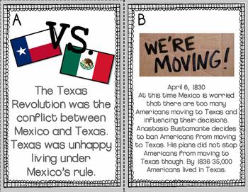 Texas Revolution Write the Room