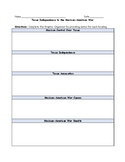 Texas Independence to the Mexican-American War Graphic Organizer with Answer Key