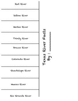 Texas River facts flip book