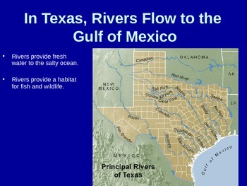 Texas Rivers Editable