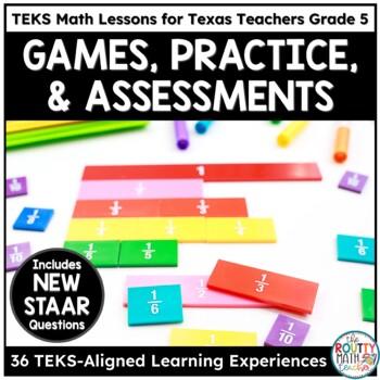 COMPLETE 5th Grade TEKS Math Curriculum Bundle
