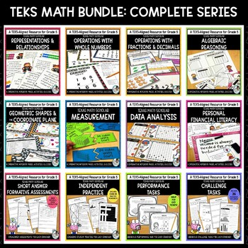 5th Grade TEKS Math Activities, Assessments & Printables