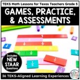 Year Long Math Activities Math Practice Math Assessments Gr5 | TEKS Math Bundle