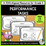 Texas STAAR Math Scholar: Exit Tasks Grade 5