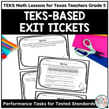 Exit Tickets- TEKS Math Assessments