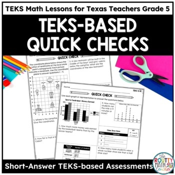 Texas STAAR Math Scholar: Open-Ended Formative Assessments Grade 5
