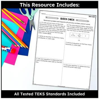 Short-Answer TEKS Math Assessments