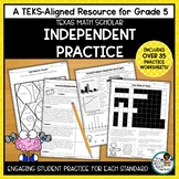 Texas STAAR Math Scholar: Student Practice Grade 5