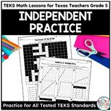 Independent Practice Worksheets- TEKS Math Curriculum