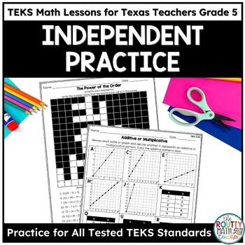 Independent Practice Worksheets- TEKS Math Printables