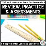 Texas STAAR Math Scholar Supplemental Resource Bundle Grade 5