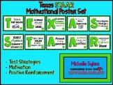Texas STAAR Motivational Poster Set Green