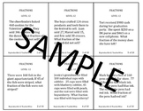 Fraction Problem Solving Task Cards: Level 9 Word Problems Multi Step
