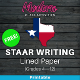 Texas STAAR Writing Test Lined Paper