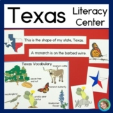 Texas Symbols Literacy Center with Reading, Writing, Posters and Worksheets