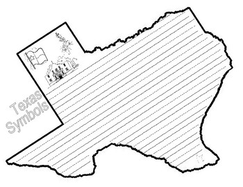 Texas Shaped Symbols Book and Writing Activity