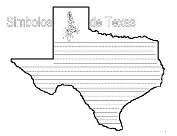 Texas Shaped Symbols Book and Writing Activity-Spanish