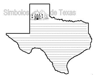 Texas Shaped Symbols Book and Writing Activity-Spanish