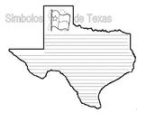 TEXAS SYMBOLS - SIMBOLOS DE TEXAS - Texas-Shaped Book and Writing Activity