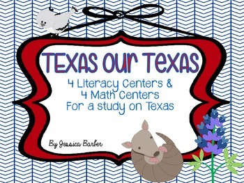 Texas Sized Learning- Literacy and Math centers with a Texas theme