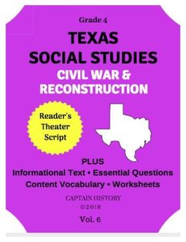 Texas Social Studies: Civil War & Reconstruction by Captain History