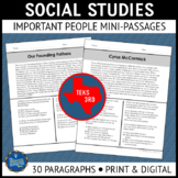 Social Studies Reading Passages Distance Learning