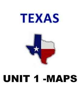 Texas Social Studies Teaching Maps (Great for all states) UNIT