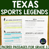 Texas Sports Legends Paired Passages (Grade 3)