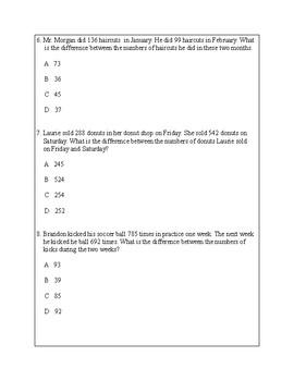 Texas Staar Lesson 2-3.4A