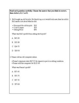 Texas Staar Lesson 4-4.10B