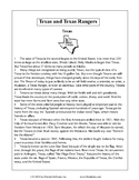 Texas Staar Reading - Texas and Texas Rangers