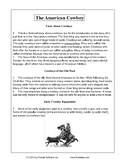 Texas Staar Reading - The American Cowboy