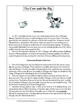 Texas Staar Reading - The Cow and the Pig
