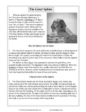 Texas Staar Reading - The Great Sphinx