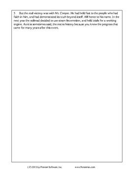 Texas Staar Reading - The Tom Thumb
