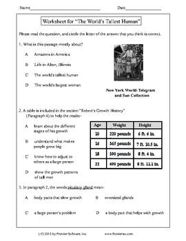 Texas Staar Reading - The World's Tallest Human