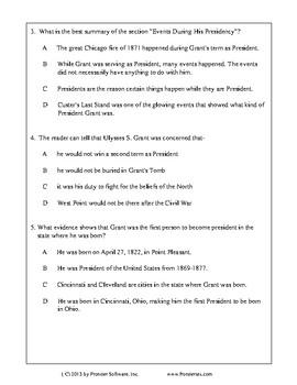 Texas Staar Reading - Ulysses S. Grant