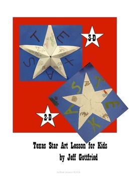 Texas Star Art Lesson for Kids in 2-D and 3-D