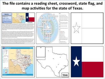 Texas - State Activity Set