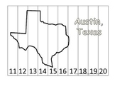 Texas State Capitol Number Sequence Puzzle 11-20.  Geography and Numbers.