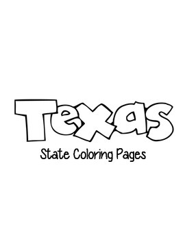 Texas State Coloring Pages